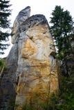 Einzigartiger Felsenberg Adrspasske skaly im Nationalpark Adrspach, Tschechische Republik Lizenzfreie Stockfotografie