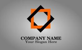 Einzigartiger Logoentwurfskasten stockbilder