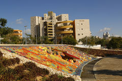 Einzigartiger Wasserbrunnen im Bier Sheba, Israel Stockfotografie