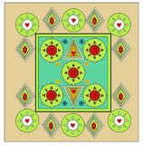 Einzigartiges Bettlakendesign alles Farbende vektor abbildung