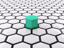 Einzigartiges Design der Konzeptzusammenfassung 3D Stockfotos