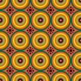 Einzigartiges Design des hellen afrikanischen Kreises stock abbildung