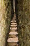 Einzigartiges Felsen ` Bau ` im Berg Adrspasske skaly im Nationalpark Adrspach Lizenzfreie Stockbilder