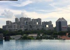 Einzigartiges Gebäude in Singapur stockfotos