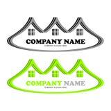 Einzigartiges Logo Real Estates lizenzfreie stockbilder