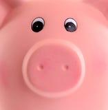 Einzigartiges rosa keramisches Sparschwein lizenzfreie stockfotografie