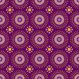 Einzigartiges Spaßdesign Shweshwe-Sonne im Purpur vektor abbildung