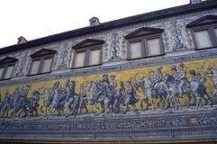 Einzigartiges Wandgemälde Dresdens Stockbild