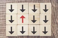 Einzigartigkeit, Unterschied, Individualität und Stellung heraus vom Mengenkonzept Lizenzfreies Stockfoto