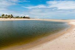 Einzige Ausdehnung des Strandes Lizenzfreie Stockfotografie