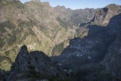 从Eira的看法做Serrado马德拉岛葡萄牙 库存照片