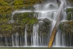 Eirawasserfall Sgwd Jahr, Brecon erleuchtet Nationalpark, Wales stockfotos