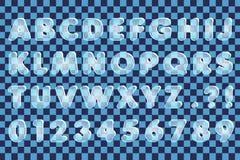Eis-Alphabet Lizenzfreies Stockbild