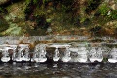Eis auf dem Felsen Lizenzfreie Stockfotografie
