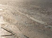 Eis auf dem Fluss Lizenzfreie Stockfotos