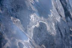 Eis auf dem icefall stockfotos