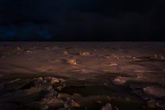 Eis auf dem Meer Stockbild