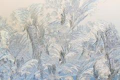 Eis auf einem Fenster, Hintergrund Lizenzfreies Stockbild