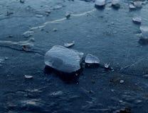 Eis auf Eis Stockfotografie