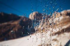 Eis auf Fensterdetail Lizenzfreies Stockbild