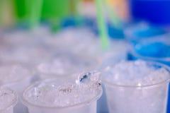 Eis auf Glas Lizenzfreie Stockbilder