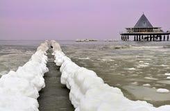 Eis auf Insel von Usedom Lizenzfreie Stockfotografie