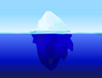 Eis Berg auf Wasser vektor abbildung