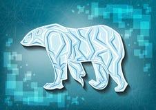 Eis betrifft gefrorenen Hintergrund Stockfoto