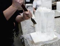 Eis-Bildhauer Lizenzfreies Stockfoto