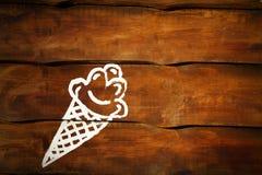 Eis creame Bild auf Wand stockfotos