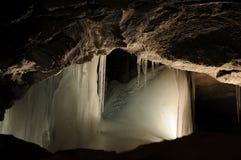 Eis in der Höhle Stockfotografie