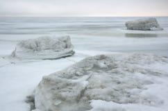 Eis des Wintereises sea.white lizenzfreie stockfotografie