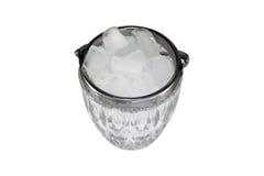 Eis in einer Glasschüssel Lizenzfreies Stockbild