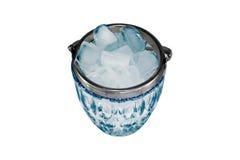 Eis in einer Glasschüssel Stockbild