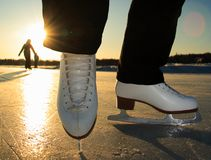 Eis-Eislauf Lizenzfreie Stockbilder