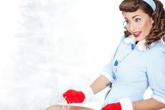 Eis-Eislauf Stift-oben Frau lizenzfreies stockfoto