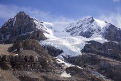 Eis-Fall auf Berg Andromeda lizenzfreies stockfoto