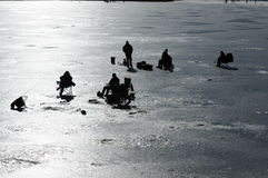 Eis-Fischen Stockbild