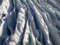 Eis/Gletscherspalte Stockfoto