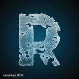 Eis-Guss von Buchstaben R stock abbildung