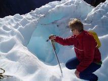 Eis-Höhle Lizenzfreies Stockbild