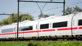 EIS-Hochgeschwindigkeitszug stock video footage