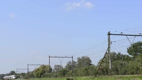 EIS-Hochgeschwindigkeitszug stock footage