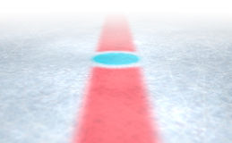 Eis-Hockey-Mitte Lizenzfreies Stockbild
