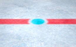 Eis-Hockey-Mitte Stockfotografie