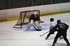 Eis-Hockey-Tätigkeit Stockfoto
