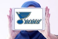 Eis-Hockey-Team-Logo St. Louis Blues Lizenzfreies Stockbild