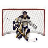 Eis-Hockey-Torhüter Stockbild