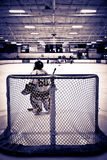 Eis-Hockey-Tormann Lizenzfreies Stockfoto