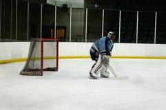 Eis-Hockey-Torwart stockfoto